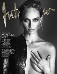 Amber Valletta photographed by Mert Alas and Marcus Piggott for Interview's September 2013 cover.