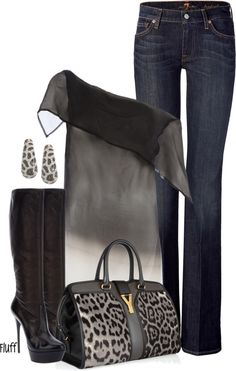 """silver leoppard"" by fluffof5 on Polyvore"