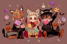 Jibaku Shonen Hanako-kun discovered by White on We Heart It Gon Anime, Anime Manga, Anime Art, Kawaii Anime, Kawaii Chibi, Anime Halloween, Otto Schmidt, Hanako San, Hanging Paintings