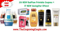 ***26 NEW RedPlum Printable Coupons + 17 NEW SavingStar Offers*** Here is the Complete list of DIRECT LINKS to the NEW RedPlum Printable Coupons and NEW SavingStar offers that you can load to your account! These don't Last long so PRINT NOW! Click the Picture below to get the DETAILED LIST OF DIRECT LINKS ►  http://www.thecouponingcouple.com/new-redplum-printable-coupons-2/  Use the SHARE button below the Picture to SHARE this Deal with your Family and Friends!  Visit