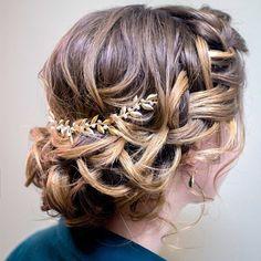 Braided Updo Wedding Hairstyle Inspiration