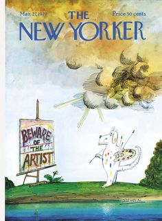 The New Yorker - Saturday, March 27, 1971 - Issue # 2406 - Vol. 47 - N° 6 - Cover by : Saul Steinberg