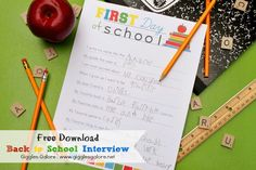 Back to School Interview_First Day of School...great way to capture the moment and remember each phase of your kids childhood!