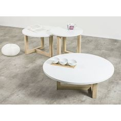 1000 id es sur le th me table basse ronde sur pinterest tables basses tabl - Table basse ronde blanc ...
