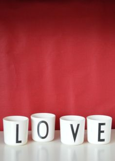 Valentine's day with Design Letters mugs