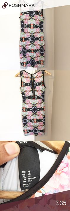 """H&M Kaleidoscope Bodycon Dress In Great Condition/ Laying Flat Bust: 14.5"""" Length: 34.5"""" H&M Dresses Mini"""