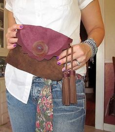 Fall Suede Clutch