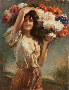 LEOPOLD SCHMUTZLER  - Flower girl.