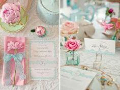 Finalmente Noiva: Inspirações: Azul Turquesa e Rosa