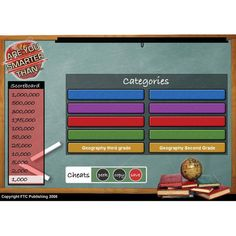 """Are You Smarter?"" for interactive whiteboards creates customizable ""Are You Smarter Than a Fifth Grader"" style games for your classroom!"