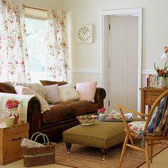 Weinlese-Englisch Wohnzimmer Wohnideen Living Ideas Interiors Decoration
