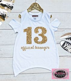 Get Official Teenager Tshirt Birthday Shirt For 13 Thirteen 1 The Hottest T-shirt In The World Tops & Tees