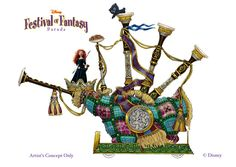 Merida's 'Disney Festival of Fantasy Parade' Float #Disney World