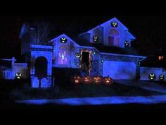halloween youtube light show