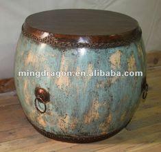 Chinese antique blue drum