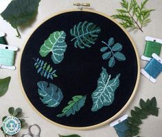 Tropical leaves modern cross stitch pdf pattern with an instant download. Great stitching project for any plants lover. Amazing handmade housewarming gift. Only 6 DMC floss colors. Size: 114w x 116h stitches 18 Count Aida: 6.3w x 6.5h inches or 16.1w x 16.4h cm 16 Count Aida:
