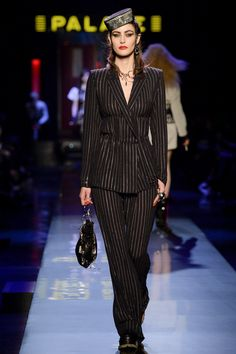 Jean Paul Gaultier | Spring 2016 Couture | 13 Black embellished suit
