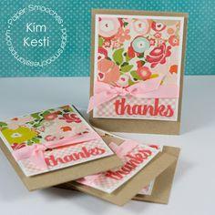 "Card Set using Paper Smooches ""Quote Tag"" die  by #Kim Kesti @Amanda Harris smooches"