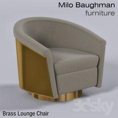 Brass Lounge Chairs - Milo Baughman Furniture