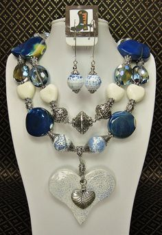 BLUE CHUNKY Agate Cowgirl Necklace with by CayaCowgirlCreations, $65.50