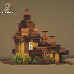 Minecraft Cottage, Easy Minecraft Houses, Minecraft Houses Blueprints, Minecraft Plans, Minecraft Survival, Minecraft Bedroom, Minecraft Creations, Minecraft Projects, Minecraft Crafts