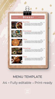 Restaurant menu   Меню ресторана Steak Menu, Sandwich Menu, Menu Online, Restaurant Menu Design, Lunch Menu, Tent Cards, Menu Template, Dinner, Dining