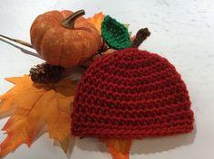 Preemie Apple Hat, Fall Preemie Hat, Reborn Preemie, Preemie Gift, Autumn Newborn Hat, September Baby Shower, Preemie NICU Hat, Bitty Baby by Crochet2Cherish4You on Etsy