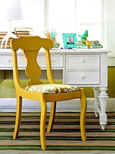I really need to fix the ugly chair in my house already.  Learn more about its transformation