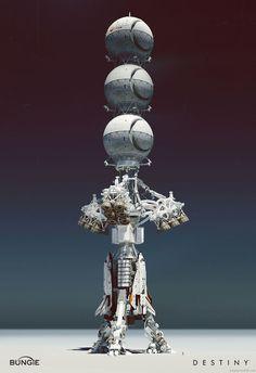 Sci Fi colony ship concept art by Jesse van Dijk. #art #space