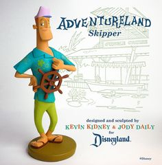 Disneyland Jungle Cruise Skipper Figurine | Designers/Sculptors: Kevin Kidney and Jody Daily