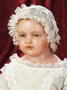 Fine English Poured Wax Child,Probably From Royal Baby Series of the Mid-1800s
