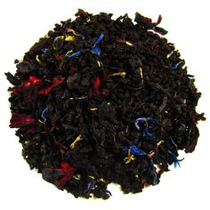Black Velvet – Full Leaf Tea Company Black tea with cornflower petals and hibiscus folded over and blended with tropical fruit flavor.