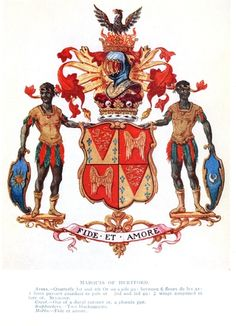 one of the original family crest of Marquis of Hertford. History is really a puzzle and parables, and you will never get straight answers from any classroom, because classrooms were organized as places of learning, not a places of facts. There simply is just too many vested interests in the authors and their views regarding every events and people. Do your own research!