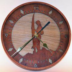 Surfer Girl Wooden Wall Clock