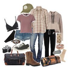 """""""camping with friends #1"""" by haylee-borthwick ❤ liked on Polyvore featuring True Religion, Free People, Ariat, NIKE, Liebeskind, Teva, Pendleton, Bling Jewelry, Casetify and Aéropostale"""