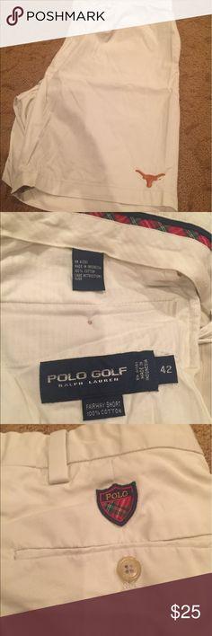 Men's Polo - UT golf shorts Never worn. Men's Polo Golf UT Longhorns shorts size 42 Polo by Ralph Lauren Shorts