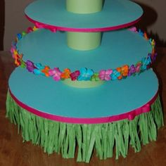 Luau theme Cupcake stand by lapetitebebeboutique on Etsy Luau Theme Party, Aloha Party, Moana Birthday Party, Hawaiian Birthday, Moana Party, Luau Birthday, Birthday Party Themes, Tiki Party, 15th Birthday
