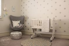 Star wall decals in this modern #nursery