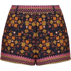 Antik Batik - Sharlen Sequin-embellished Embroidered Cotton-gauze... (9,150 INR) ❤ liked on Polyvore featuring shorts, multi, sequined shorts, multi colored shorts, embroidered shorts, antik batik and colorful shorts