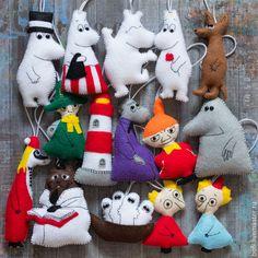 Купить Елочные Муми-игрушки - разноцветный, муми-тролли, Муми-тролль, мумики, муми-папа