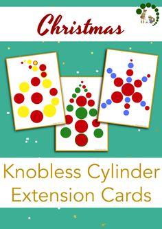 Christmas Themed Knobless Cylinder Extensions – Montessori Nature