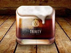 Trinity Irish Pub by Alex Litvinov Design Ios, App Icon Design, Mobile Ui Design, Site Design, Flat Design, Graphic Design, Icons Web, Ios Icon, Icons