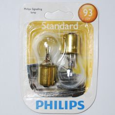 2 Pack - Philips 13.31W S8 12.8V BA15s Aircraft Low Voltage Bulb