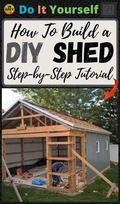 Backyard Storage Sheds, Building A Storage Shed, Shed Building Plans, Diy Shed Plans, Backyard Sheds, Outdoor Sheds, Log Cabin Sheds, Shed Builders, Framing Construction