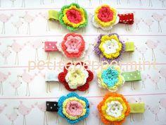 Baby Hair Clips  Lollipop Crochet by PetitePeppermint on Etsy, $9.95