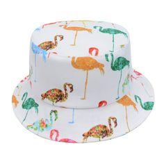 White Digital Print Flamingos Men Women Bucket Hat Fishing Outdoor Beach Sun Cap #Goldtop #Bucket Sun Cap, Gold Top, Snap Backs, Bucket Hat, Collars, Digital Prints, Fishing, Wraps, Scarfs