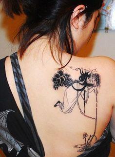 Art Girl Back Tattoo