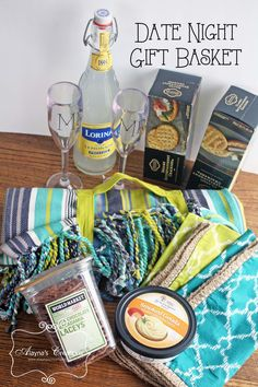 Gift Basket Ideas For Wedding Night : Date Night Gift Basket Crafting: Gift Baskets Pinterest Night ...