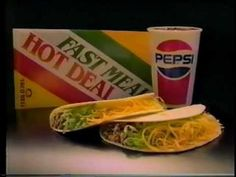 Taco Bell is an American chain of fast-food restaurants based in Irvine, California. Taco Bell Commercial, Vintage Recipes, Vintage Food, Del Taco, Vintage Restaurant, Ol Days, Good Ol, Vintage Advertisements, Tacos
