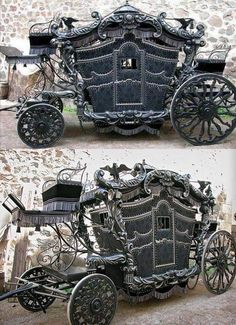 An amazing Victorian-era gothic horse-drawn carriage. An amazing Victorian-era gothic horse-drawn carriage. An amazing Victorian-era gothic horse-drawn carriage. An amazing Victorian-era gothic horse-drawn carriage. Goth Home Decor, Gothic Furniture, Steampunk Furniture, Brothers Grimm, Gothic House, Horse Drawn, Gothic Steampunk, Steampunk Wedding, Gothic Beauty